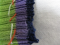 修理 ニットの袖のほつれAfter