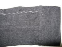 修理 シャツの袖破れAfter